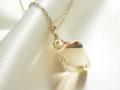 スワロフスキークリスタルゴールデンシャドウのネックレス(K14 Gold filled)