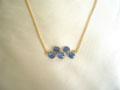 瑠璃紺マロンサファイアゴールドネックレス